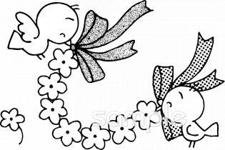 お祝い 小鳥イラストなら小学校幼稚園向け保育園向け自治会pta