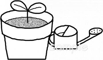 じょうろ 植木鉢イラストなら小学校幼稚園向け保育園向け自治会