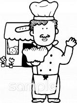 パン屋さんイラストなら小学校幼稚園向け保育園向け自治会pta