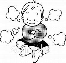 男の子 考えるイラストなら小学校幼稚園向け保育園向け自治会