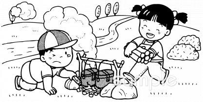 自然学校イラストなら小学校幼稚園向け保育園向け自治会pta