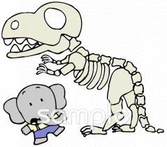 化石 恐竜イラストなら小学校幼稚園向け保育園向け自治会pta