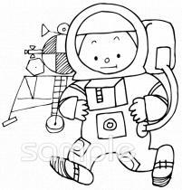 宇宙飛行士イラストなら小学校幼稚園向け保育園向け自治会pta