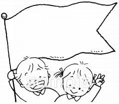 応援 旗イラストなら小学校幼稚園向け保育園向け自治会pta向け