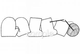 手編み ミトン 靴下イラストなら小学校幼稚園向け保育園向け自治