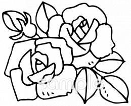 バラの花イラストなら小学校幼稚園向け保育園向け自治会pta