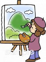 美術クラブイラストなら小学校幼稚園向け保育園向け自治会pta