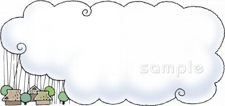 大雨イラストなら小学校幼稚園向け保育園向け自治会pta向けの
