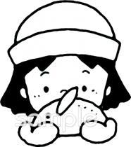 女の子 雪ウサギイラストなら小学校幼稚園向け保育園向け自治会