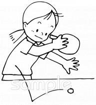 卓球イラストなら小学校幼稚園向け保育園向け老人福祉のかわいい