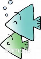 水族館 魚イラストなら小学校中学校幼稚園向け保育園向けの