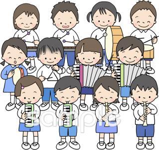 演奏イラストなら小学校中学校幼稚園向け保育園向けのかわいい