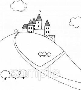 お城 山イラストなら小学校幼稚園向け保育園向けのかわいい無料