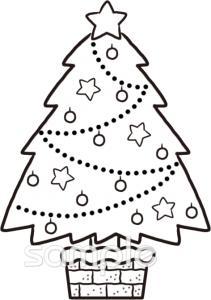 クリスマスツリー 12月の壁面飾りイラストなら 小学校 幼稚園向け 保育園向けのかわいい無料イラストお試しフリー 素材 カット がいっぱいの安心サイトへどうぞ