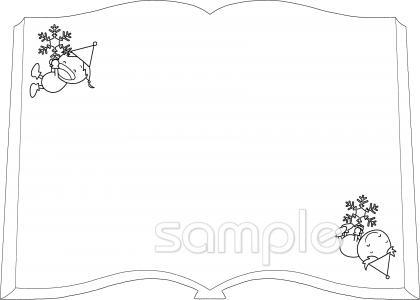 本型フレームイラストなら小学校幼稚園向け保育園向けのかわいい