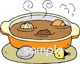 シチュー 料理イラストなら給食小学校幼稚園向け保育園向けの