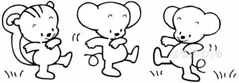 ネズミ リスイラストなら給食小学校幼稚園向け保育園向けの