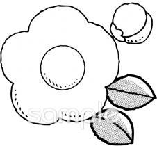 椿 冬の花イラストなら音楽小学校幼稚園向け保育園向けの