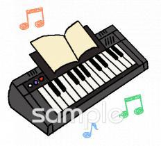 キーボード 電子ピアノイラストなら音楽小学校幼稚園向け保育園