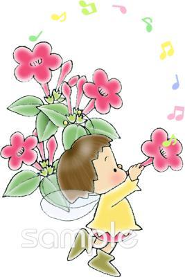 オシロイバナイラストなら音楽小学校幼稚園向け保育園向けの