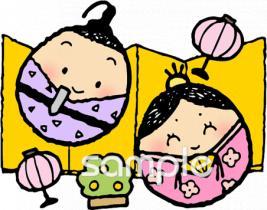 雛祭り 雛人形 屏風イラストなら小学校幼稚園向け保育園向けの