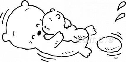 親子 ラッコイラストなら 小学校 幼稚園向け 保育園向けのかわいい無料イラストお試しフリー素材 カット がいっぱいの安心サイトへどうぞ
