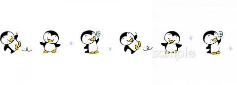 ペンギン 飾りラインイラストなら 小学校 幼稚園向け 保育園向けのかわいい無料イラストお試しフリー素材 カット がいっぱいの安心サイトへどうぞ