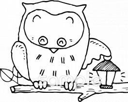フクロウイラストなら 小学校 幼稚園向け 保育園向けのかわいい無料イラストお試しフリー素材 カット がいっぱいの安心サイトへどうぞ