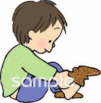 着替え 靴下イラストなら、小学校・幼稚園向け・保育園向けの