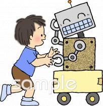 工作 ロボットイラストなら小学校幼稚園向け保育園向けのかわいい