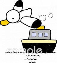 船 カモメイラストなら小学校幼稚園向け保育園向けのかわいい無料