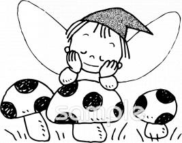 キノコ 妖精イラストなら小学校幼稚園向け保育園向けのかわいい