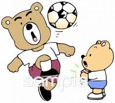 サッカー リフティングイラストなら小学校幼稚園向け保育園向けの