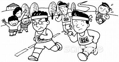マラソンイラストなら小学校幼稚園向け保育園向けのかわいい無料
