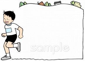 マラソン大会イラストなら小学校幼稚園向け保育園向けのかわいい
