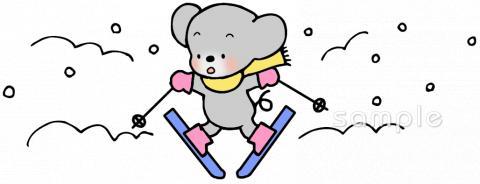 スキー ゲレンデイラストなら小学校幼稚園向け保育園向けの