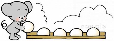 餅つき大会イラストなら小学校幼稚園向け保育園向けの