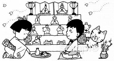 男の子 女の子 雛祭りイラストなら小学校幼稚園向け保育園向けの