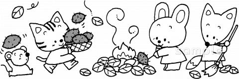 焼き芋イラストなら小学校幼稚園向け保育園向けのかわいい