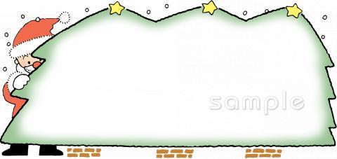 クリスマス 枠イラストなら小学校幼稚園向け保育園向けのかわいい