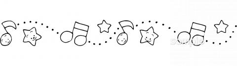 飾りケイ 音符イラストなら小学校幼稚園向け保育園向けのかわいい