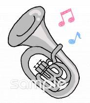ブラスバンド ユーフォニアムイラストなら小学校幼稚園向け保育園