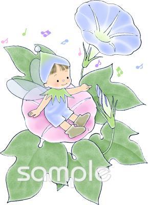 妖精 朝顔イラストなら小学校幼稚園向け保育園向けのかわいい無料