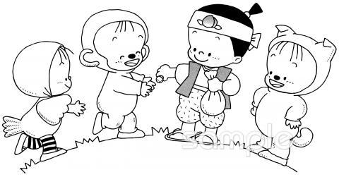 発表会 桃太郎イラストなら小学校幼稚園向け保育園向けのかわいい