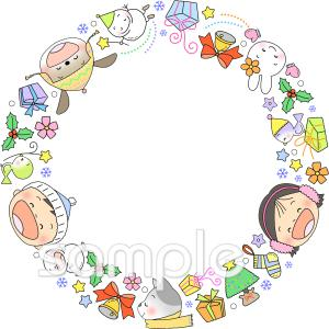 12月 フレームイラストなら 小学校 幼稚園向け 保育園向けのかわいい無料イラストお試しフリー素材 カット がいっぱいの安心サイトへどうぞ