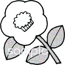椿 冬の花イラストなら小学校幼稚園向け保育園向けのかわいい無料
