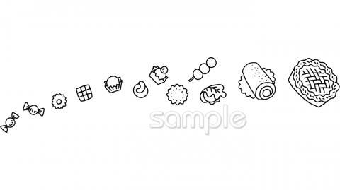 お菓子イラストなら 小学校 幼稚園向け 保育園向けのかわいい無料イラストお試しフリー素材 カット がいっぱいの安心サイトへどうぞ
