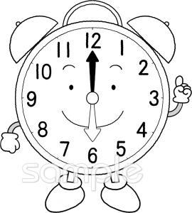 時計 6時イラストなら小学校幼稚園向け保育園向けのかわいい無料