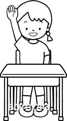 手をあげるイラストなら小学校幼稚園向け保育園向けのかわいい無料