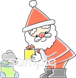 サンタクロース プレゼントイラストなら小学校幼稚園向け保育園
